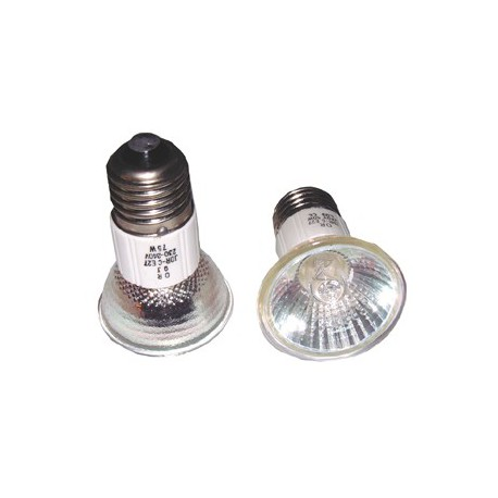 Ampoule E27 halogène dichroique 230V  50W 38°