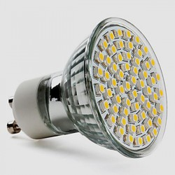 Ampoule GU10 230Vac 60 led blanc chaud 4,5W