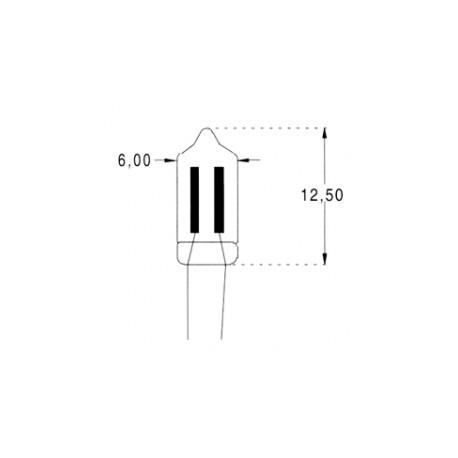 Ampoule néon à fils 6x13mm 95V 1,2mA