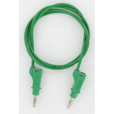 Cordon labo. à reprise D4mm vert 1 mètre