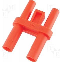 Shunt de sécurité à reprise rouge 4mm