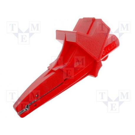 Pince crocodile de sécurité 4mm rouge
