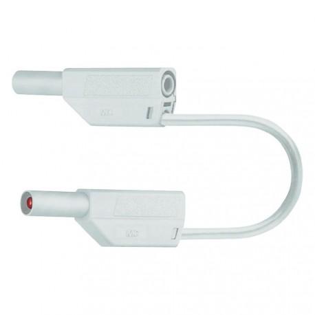 Cordon sécurité à reprise D4mm blanc 50cm