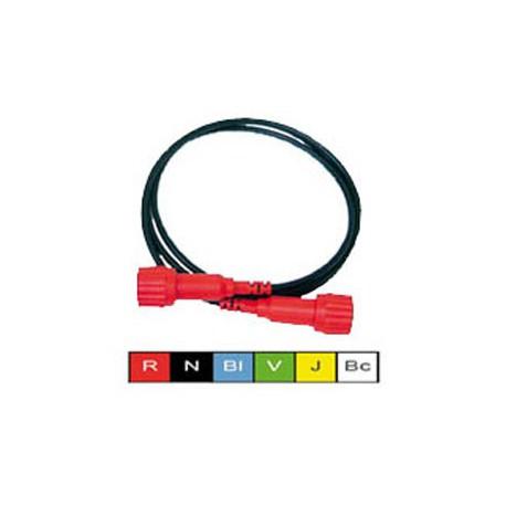 Cordon BNC mâle / mâle isolé 50ohms noir longueur 1 mètre