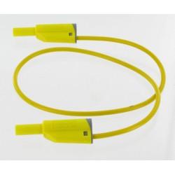 Cordon sécurité à reprise D4mm jaune 1 mètre