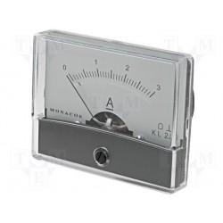 Galvanomètre ampèremètre 0 à 3 Ampères 60x47mm