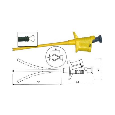 Grippe-fils de sécurité 4mm jaune
