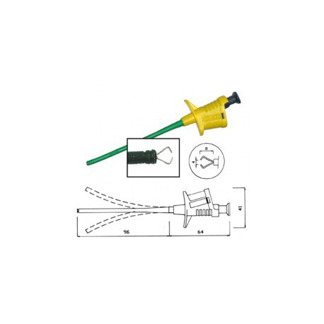 Grippe-fils de sécurité 4mm jaune / vert