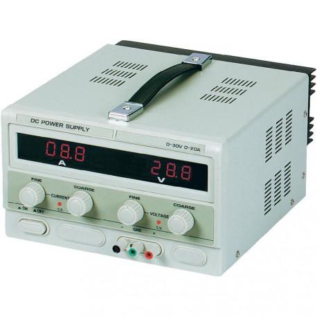 Alimentation de laboratoire 0 à 30V - 0 à 10Amp. affichage digital