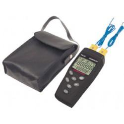 Thermomètre à contact deux entrées Multimétrix TM62