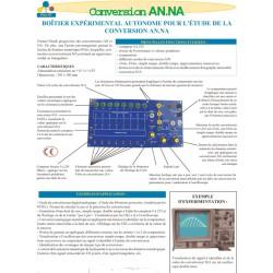 Carte pour l' étude de la conversion Analogique / numérique-numérique / analogique autonome