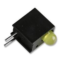 Diode led 3mm jaune support coudée pour C.I.