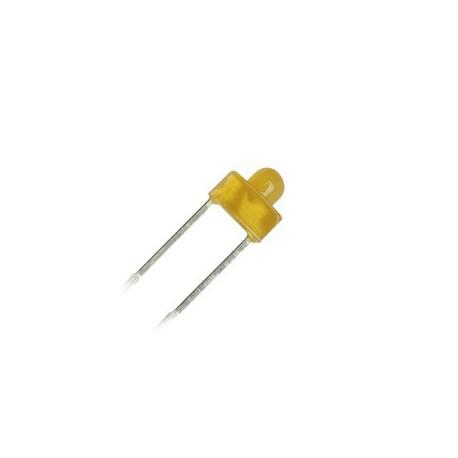 Diode led 1,8mm jaune 70° 8mcd 10mA