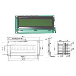 Afficheur LCD 1x16crts rétroéclairé