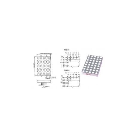 Matrice à diodes led rouges  A/C 53x38mm