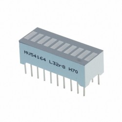Bargraph dil20 10 leds vertes 10mA 25,4x10,16mm