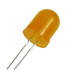 Diode led 10mm orange 100mcd 30°