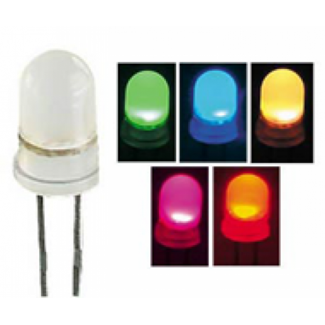 Led 5mm transparente à changement de couleur automatique 5Vdc 20mA 30°