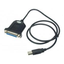 Interface PC IEEE 1284 sub/d 25 fem. /  USB 2.0