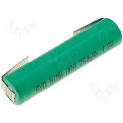 Accu type R3 Ni-Mh AAA 1,2V 700mA à languettes
