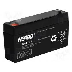 Batterie au plomb étanche 6V 1,2Ah