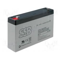 Batterie au plomb étanche 6V 7Ah 151x34x94mm