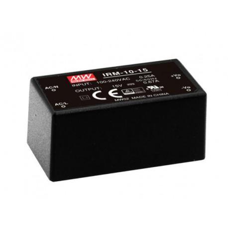 Convertisseur AC/DC 10W 85/264Vac / 12Vdc 0,85Amp.