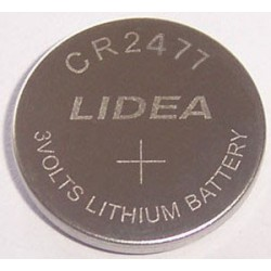 Pile lithium bouton 24mm 3V CR2477