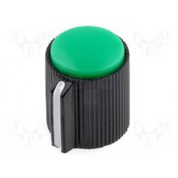 Bouton pour potentiomètre axe 6mm 13x15mm vert serrage à vis