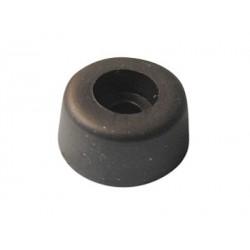 Pied caoutchouc noir à visser 17,5x9mm