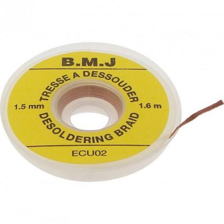 Bobine tresse à dessouder 1,5 mm x 1,6 mètre