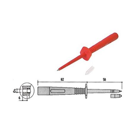 Pointe de touche de sécurité fine 4mm rouge