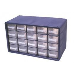 Casier plastique 20 tiroirs Raaco