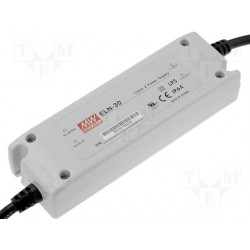 Alimentation Mean-Well IP64 90/264Vac - 9Vdc switching led 3,4Amp. 30,6W
