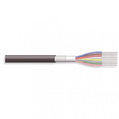 Câble blindé 8cdts 0,14mm² + masse Ø extérieur 5,1mm