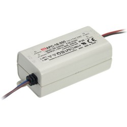 Alimentation Mean-Well IP30 - 90/264Vac - 12 à 48Vdc - switching led - 350mA - 16,8W