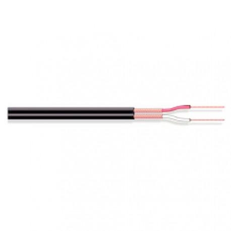 Câble blindé séparé 2x0,14mm² noir