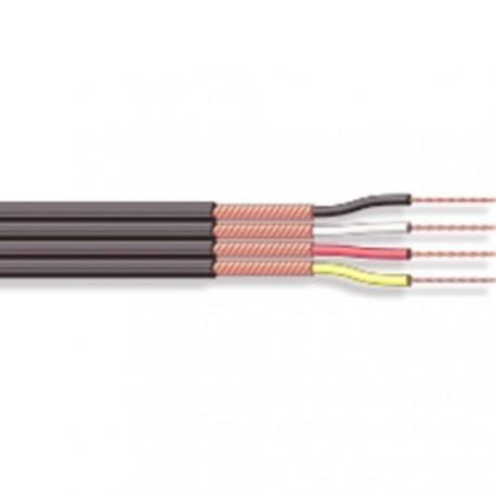 Câble blindé séparé 4x0,14mm² noir