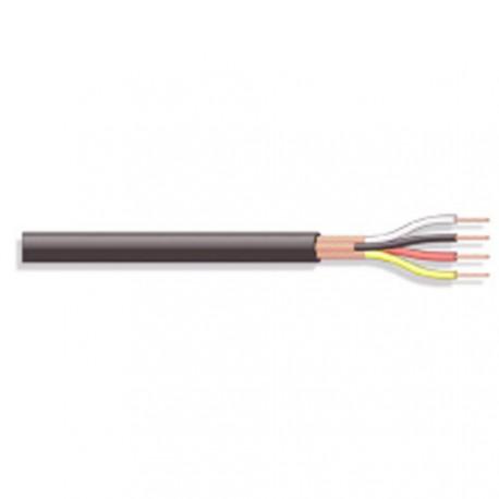Câble rond 4x0,08mm² blindé séparé noir Ø extérieur 4,5mm