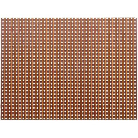 Plaque essais bakélite à pastilles 100x500mm