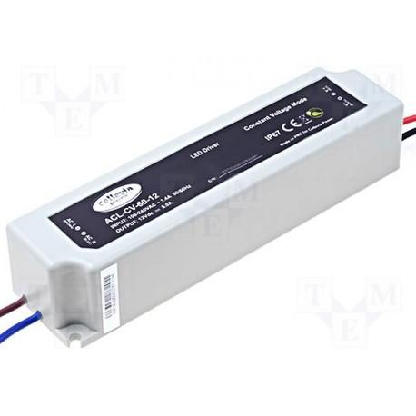 Alimentation pour leds et ruban à leds 12Vdc 60W 5Amp. IP67