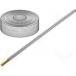 Câble plat AWG26 4cdts RJ9/11 gris