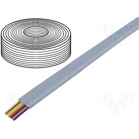 Câble plat AWG26 6cdts RJ12 gris