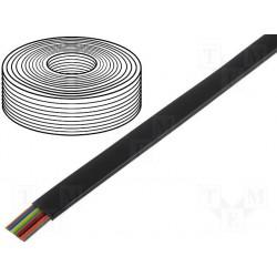 Câble plat AWG26 8cdts RJ45 noir