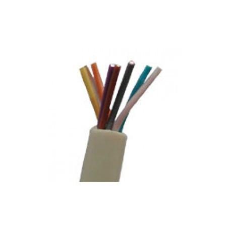 Câble plat AWG26 8cdts RJ45 ivoire