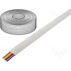 Câble plat AWG26 8cdts RJ45 blanc