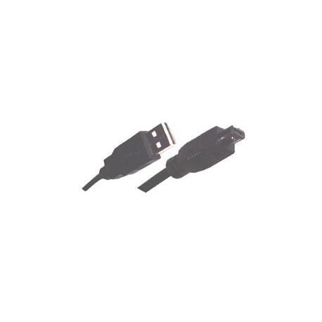 Cordon USB A mâle / mini USB 4C 1,5 mètre