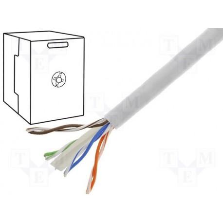 Câble réseau Cat6 F/UTP 4 paires gris 4x2x0,57mm