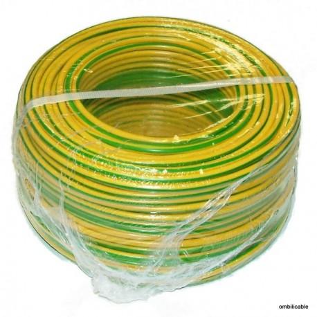 Fil de câblage souple 1,5mm² vert / jaune