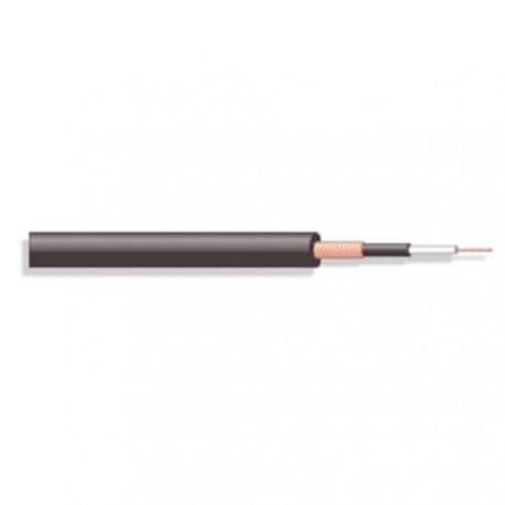 Câble blindé souple 1x0,22mm²  Ø extérieur 6mm noir